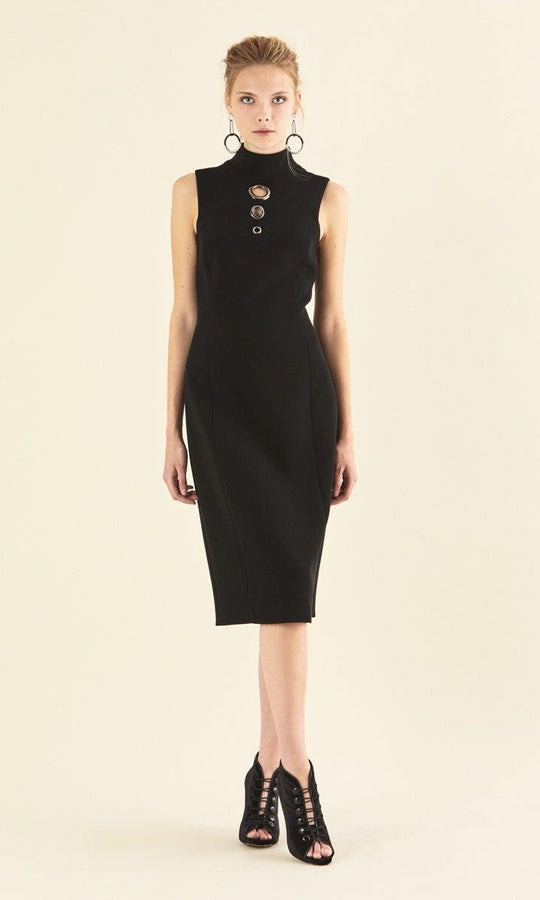 TURTLENECK SHEATH DRESS