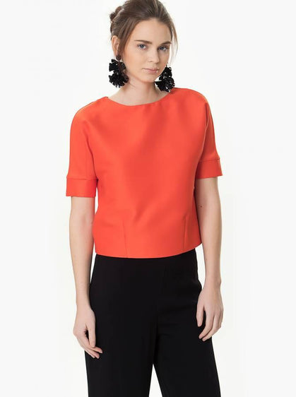 Blouse - Orange Blouse