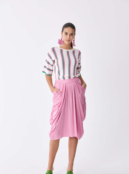 Greco Draped Tea Skirt
