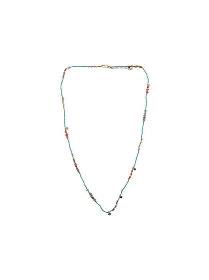 ROMAN USA-Turquoise Beaded Necklace-- [ORIGINAL]