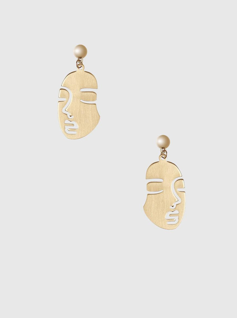 GOLD FIGURE EARRINGS