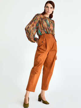 Boxy Fit High Waisted Trouser