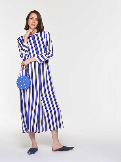 ROMAN USA-Cabana Striped Maxi Dress-- [ORIGINAL]