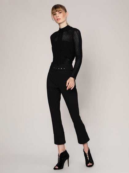 BELT DETAILED Black PANTS