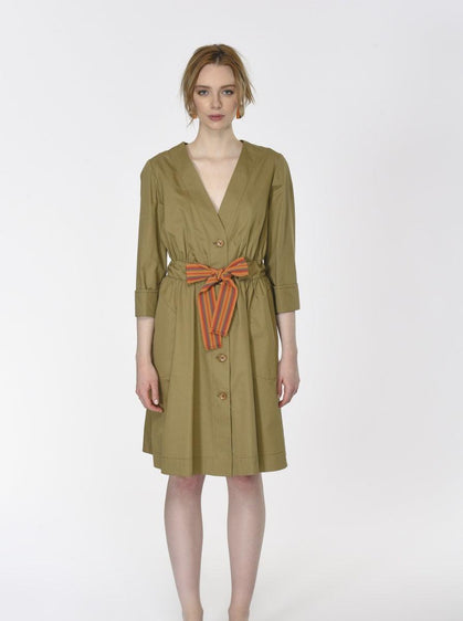 ELASTIC WAIST TRENCH COAT