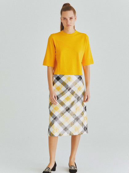 Sequin Buffalo Check Skirt