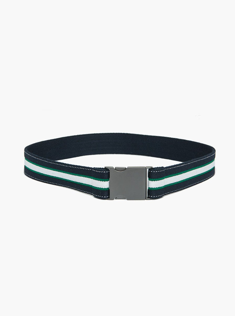 General - Navy Belt With White And Green Stripes