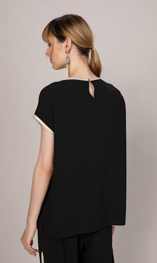 Black Cap Sleeve Top