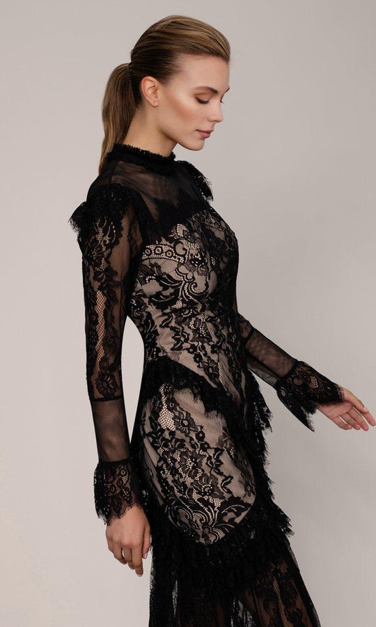 Opulant Laced Evening Gown