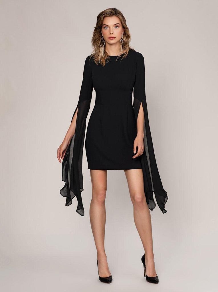 TULLE SLEEVES Black DRESS