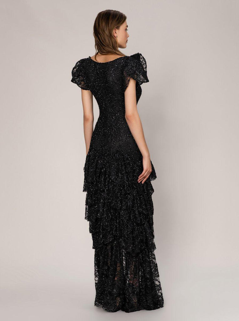 LAYERED BLACK GOWN