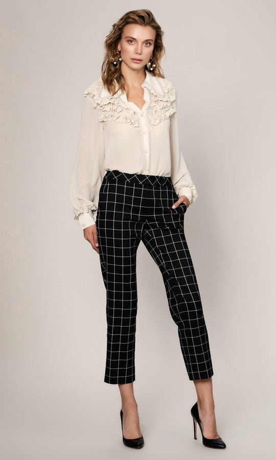 CHECKED PRINT CROPPED PANT