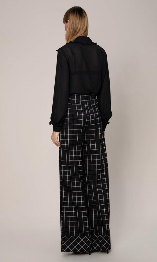 Grid Check Power Pant
