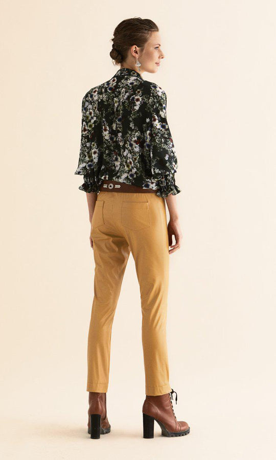 Mustard Faux Leather Pant