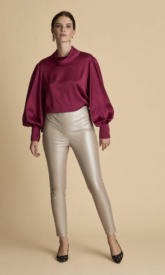 Metallic Liquid Fit Pant