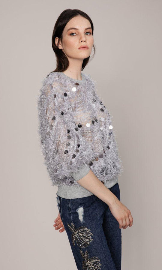 Lavender Retro Fuzzy Sweater