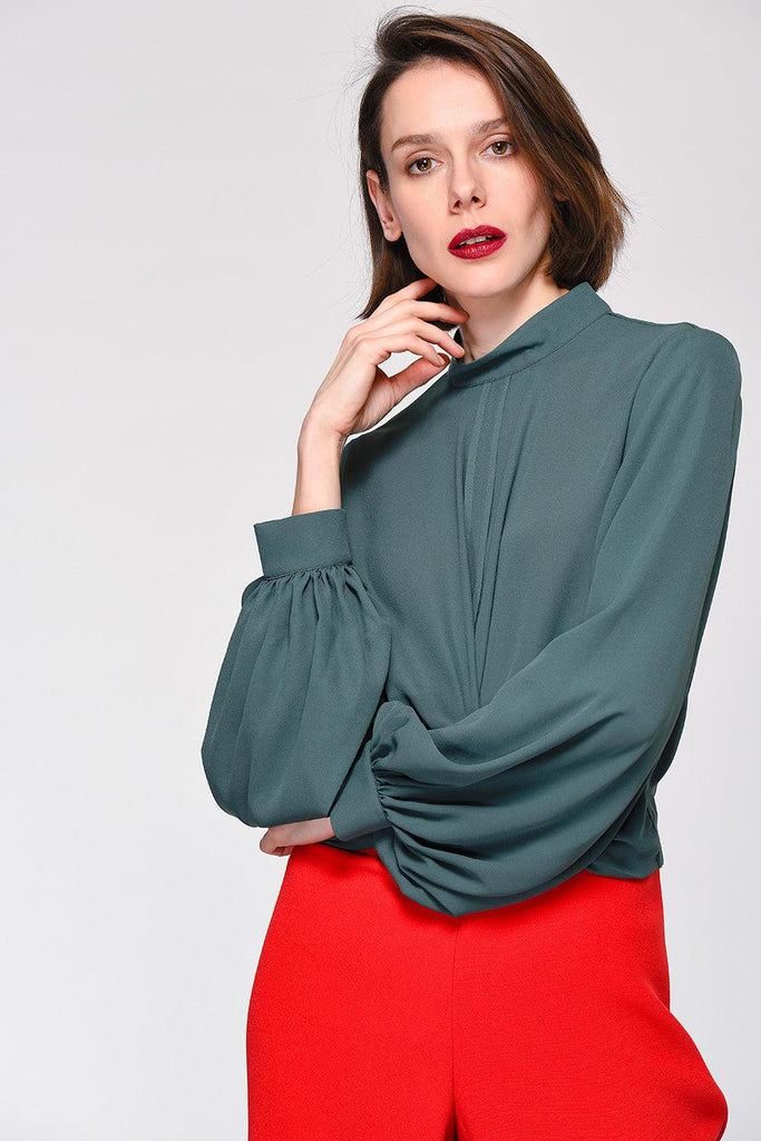 WIDE SLEEVE BLOUSE