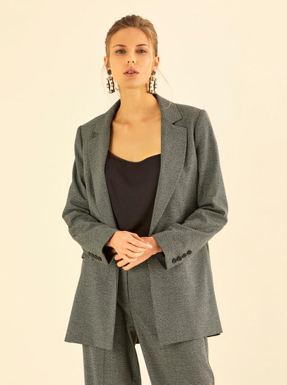 SINGLE BREASTED GREY BLAZER