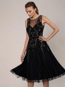 Opulent Hand Beaded Evening Gown