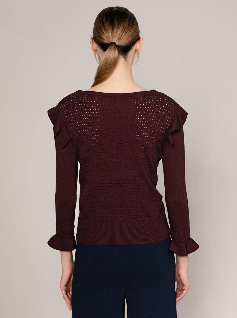 NECKLINE DETAILED KNITWEAR TOP