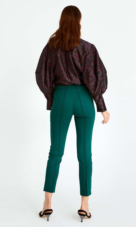 Fitted Green Cigarette Pant