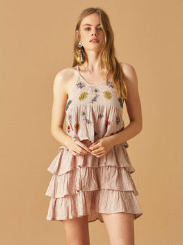 MINI EMBROIDERED DRESS