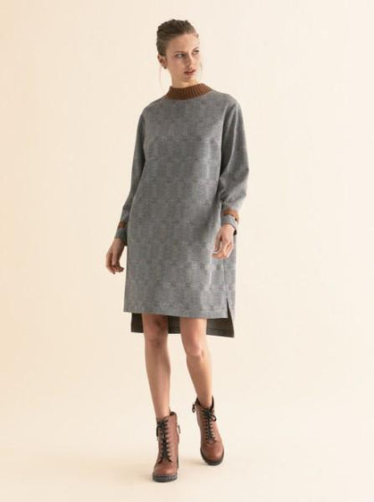 Grey Dupplin Shift Dress