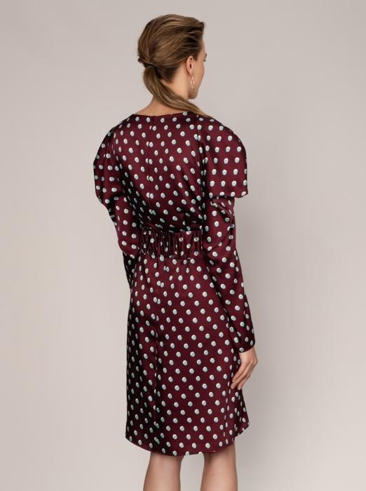 Regal Puffed Sleeve Dress