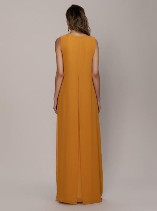 Orange High Slit Maxi Dress