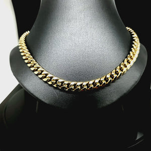 Real 14k Yellow Gold Heavy Solid Miami Cuban Link Chain / Necklace For Men / Women 7.0mm , 26 Inches