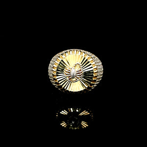 Solid 10K Gold Scorpio with CZ Ring For Men