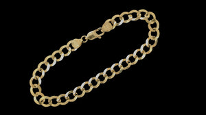 Real 10K Solid Cuban Men & Women Bracelet/ Anklet 3.0mm- 7.0mm