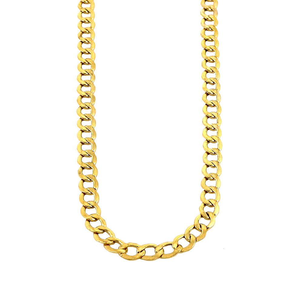 Real 10k Yellow Gold Hollow Cuban Chain 1.5MM to 5.5MM
