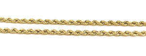 "14K Yellow Gold Diamond Cut Rope Chain Real Solid 16"" to 26"" (2.5mm-5mm)"