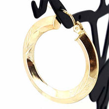Load image into Gallery viewer, Women's 10k Yellow Gold Hoop Earrings
