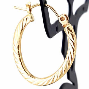 10k Yellow Gold Hoop Earrings for Women, Girls and Teenagers