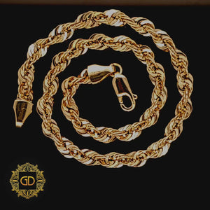 Real 10K Yellow Gold Hollow Rope Men & Women Bracelet / Anklet 1.8mm - 5.0mm