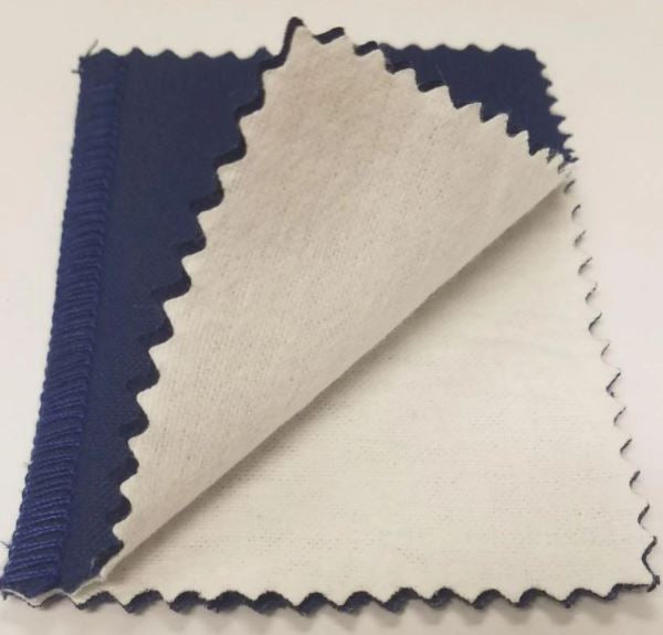 Jewelry Wiping Cleaning Cloth Silver Gold & Platinum Jewelry Polishing Cloth Jewelry Watch Coins Glasses Cleaning Cloths- Blue-Pack of 2