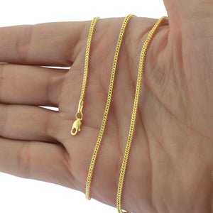 Real 10K Yellow Gold Hollow Franco Box Link Bracelet / Anklet for Men Women 2.5mm