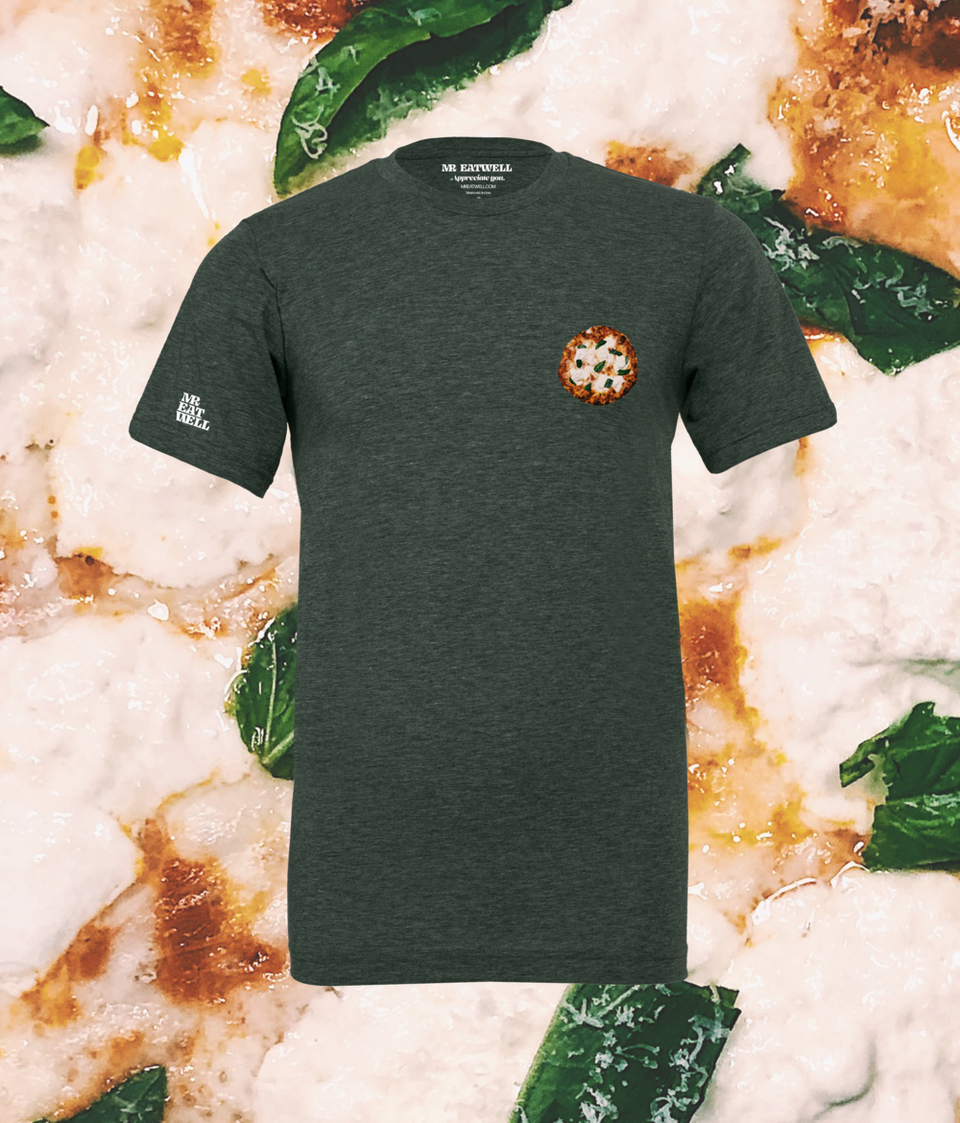 "Pizza Tee in Heathered ""Basil"""