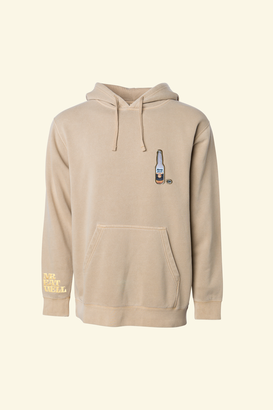 "Stay Home Cerveza Hoodie in ""Brown Sugar"""