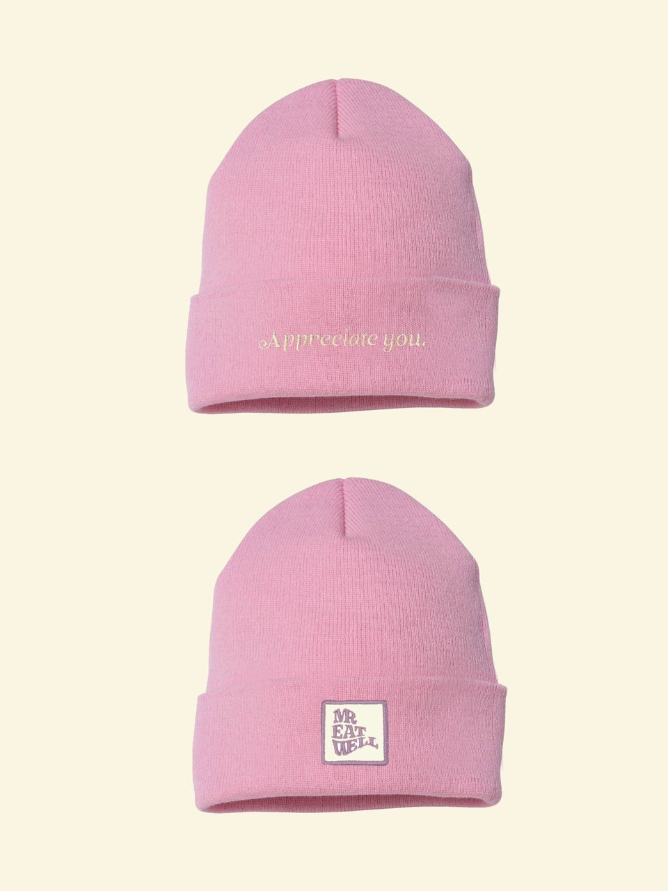 Appreciate You + Logo Beanie in a Bunch of Colors (IN STOCK, SHIPS IMMEDIATELY) - MR EATWELL