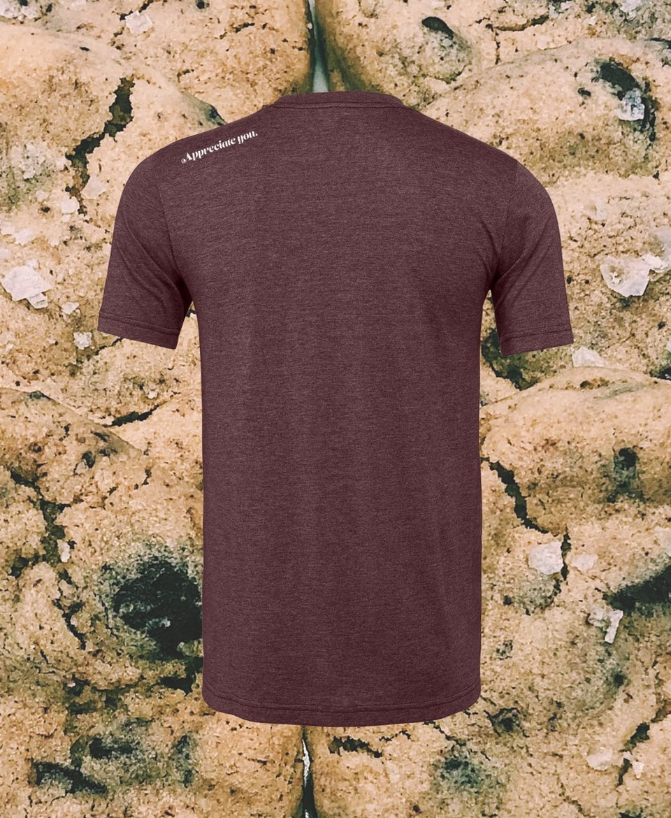 "Chocolate Chip Cookie Tee in Heathered ""Pinot"" - MR EATWELL"