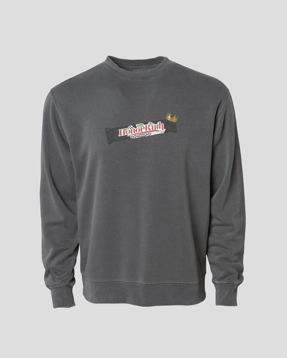 "Honor Ruth Crewneck in ""Faded Judicial Robes"" Grey - MR EATWELL"