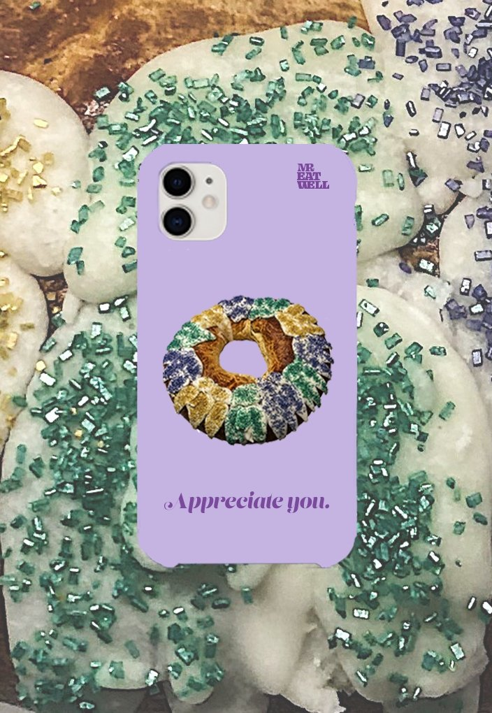 "King Cake iPhone Case in ""Pale Grimace"" - MR EATWELL"
