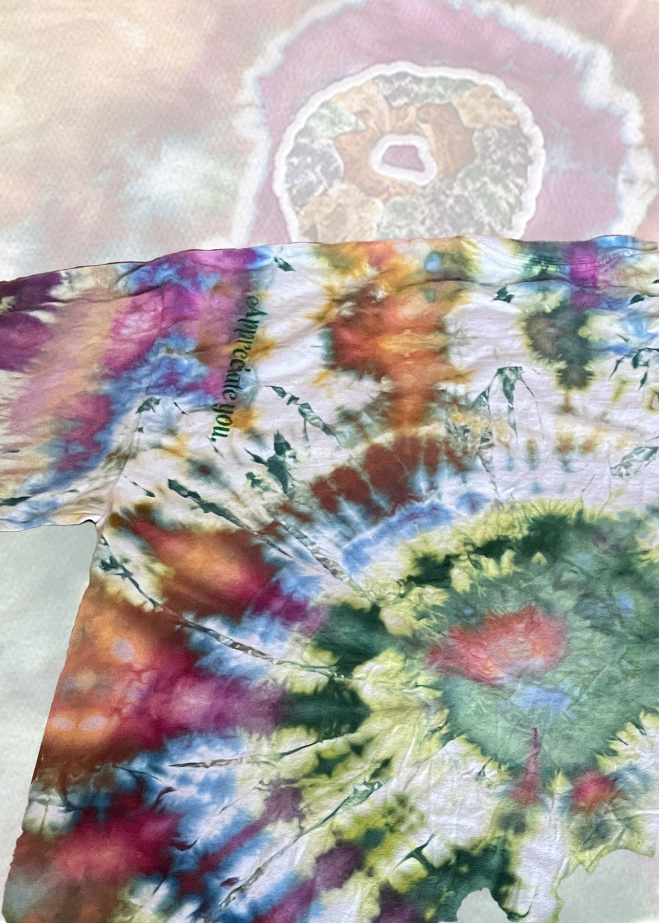 "King Cake LS Tee in ""PsychedeliCarnival"" Ice Tie Dye - MR EATWELL"