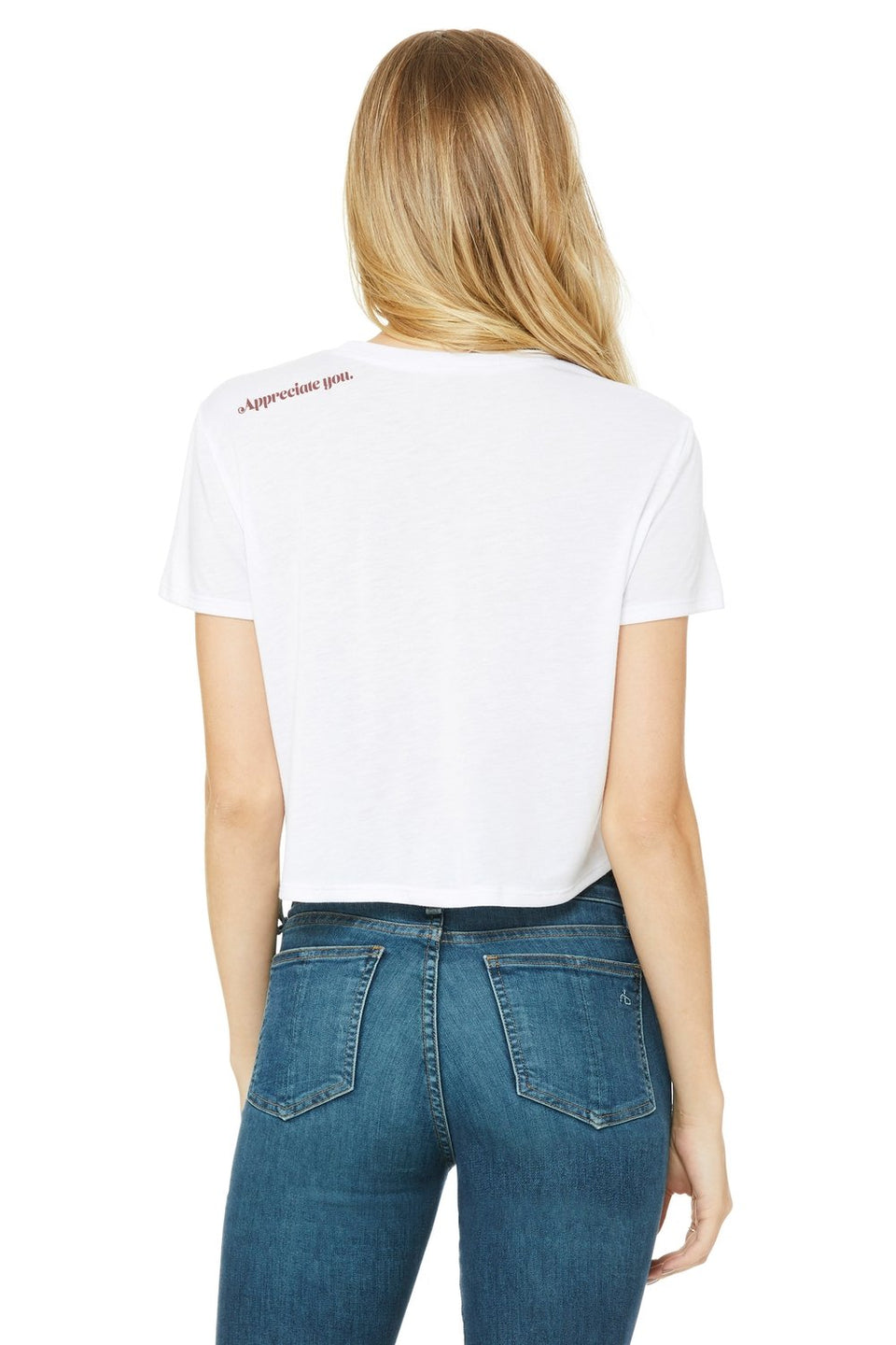 "MR E x Crystal Crop Top Tee in ""White Rice"" - MR EATWELL"