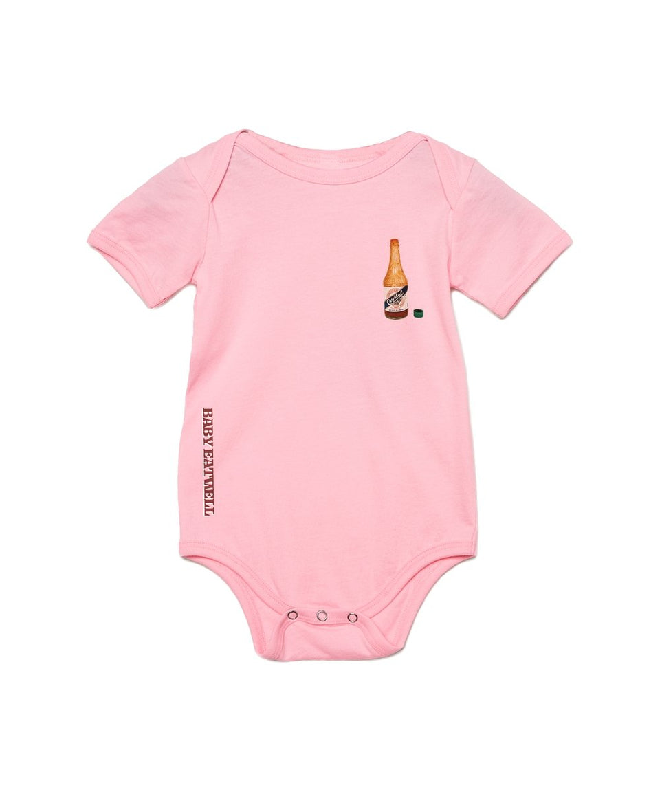 "MR E x Crystal Onesie in ""Artificial Sweetener Packet Pink"" - MR EATWELL"