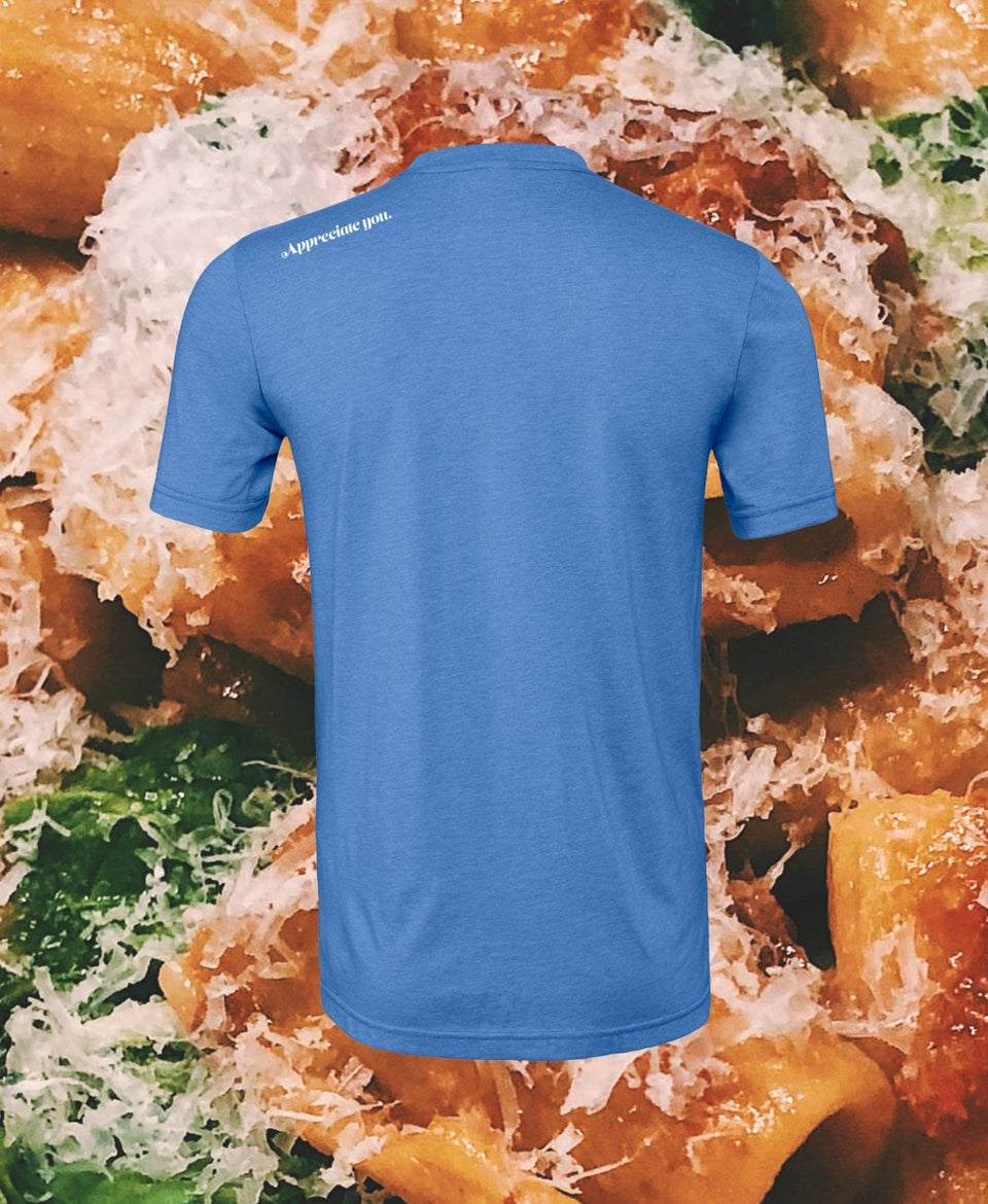 "Pasta Tee in Heathered ""Blue Gatorade"" (BACK ORDER) - MR EATWELL"