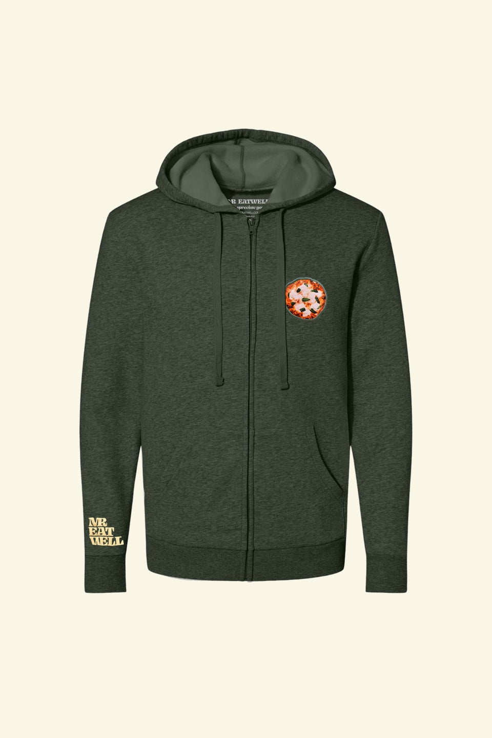 "Pizza Zip Hoodie in ""Money Moves"" - MR EATWELL"